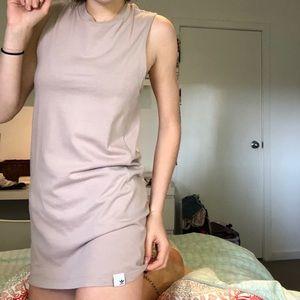 Tan coloured Adidas T-shirt dress